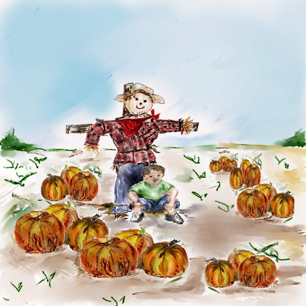 Jeremy and Jake in Pumpkin Patch